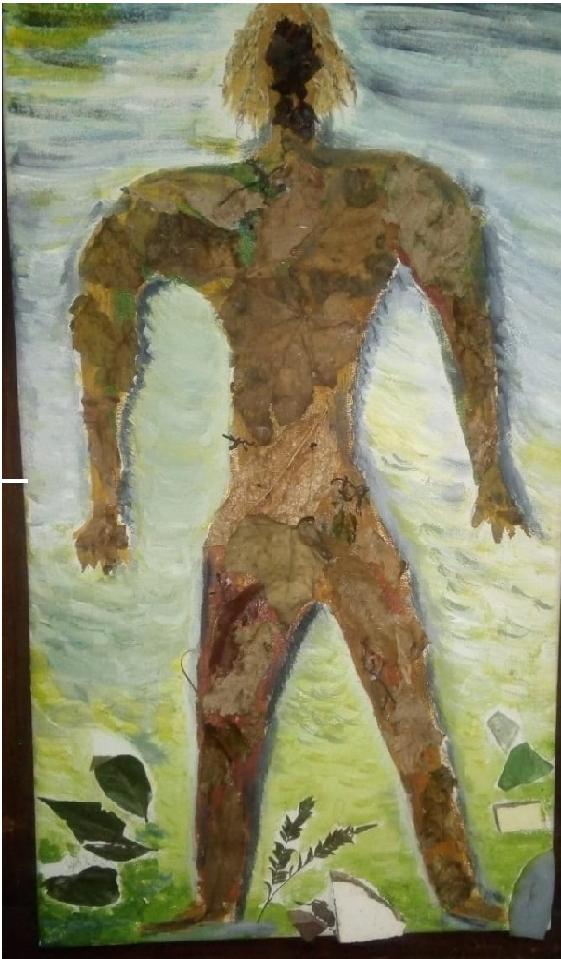 """CERRINI """"Un 30000"""" Acrílico, collage. Medidas: 30 x 50cm"""